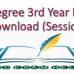 NU Degree 3rd Year Result 2020 Pdf Download (Session 2015-16)