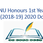 NU Honours 1st year result (2018-19) 2020 Pdf Download