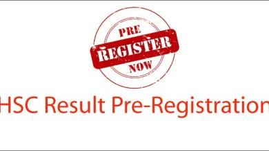HSC Result Pre-Registration