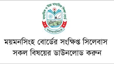 SSC Short Syllabus Mymensingh Board