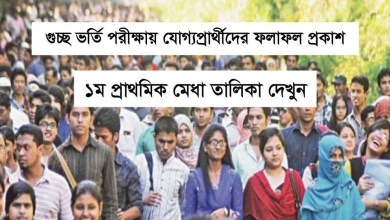 Guccho Admission Result