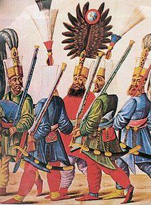 Janitscharen-Aga und seine Begleiter