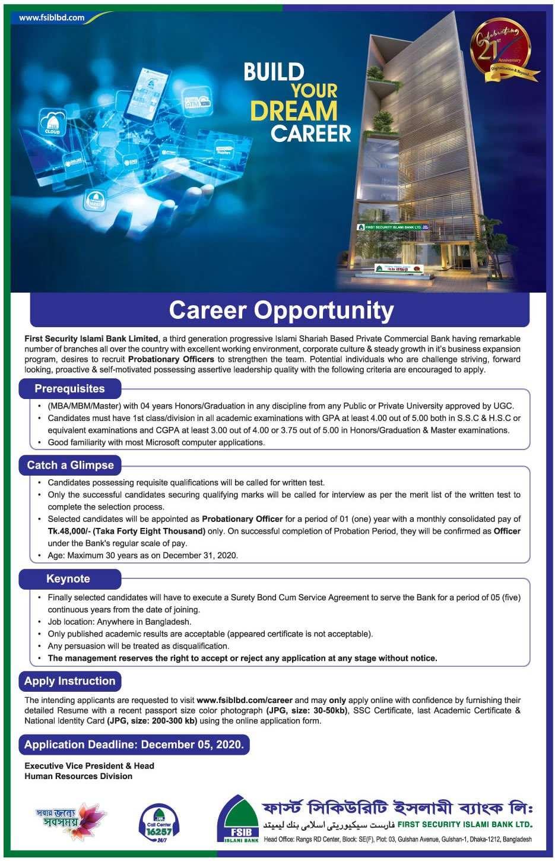 FSIBL Job Circular 2021