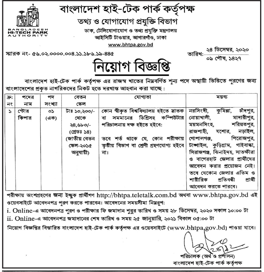 Ministry of Telecommunications and Information Technology job circular 2021