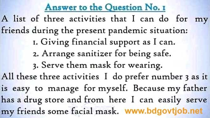 class 7 assignment answer 8th week