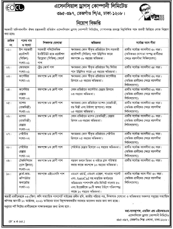 EDCL Job Circular 2021