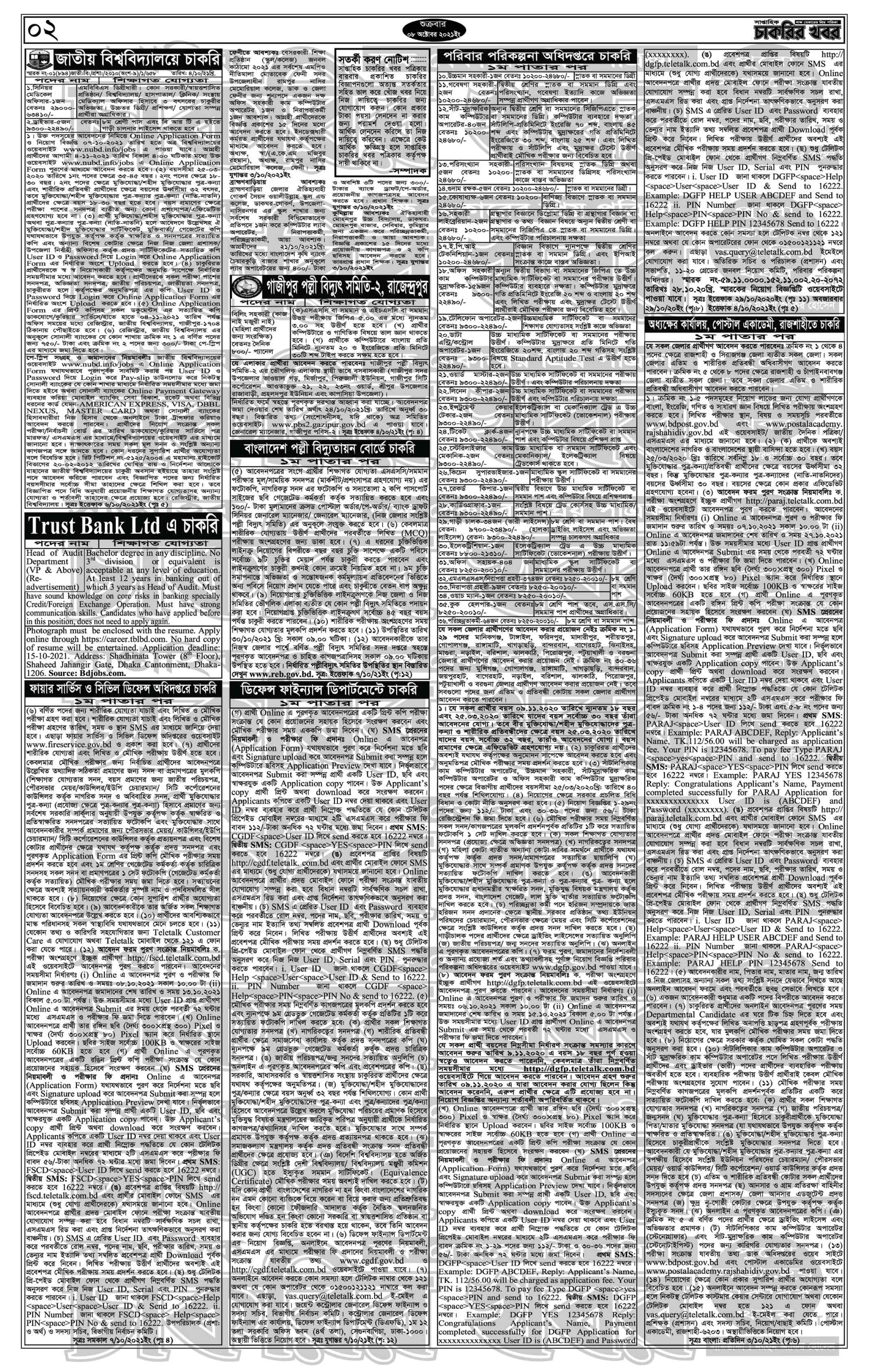 weekly job newspaper 8 October 2021