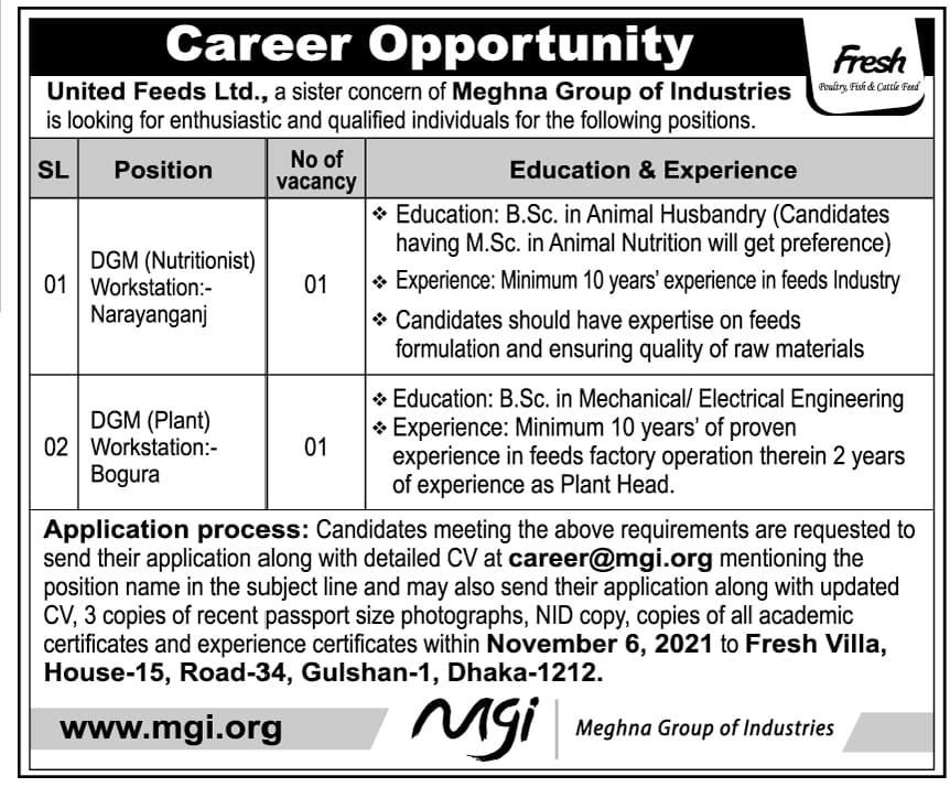 MGI Job Circular 2021