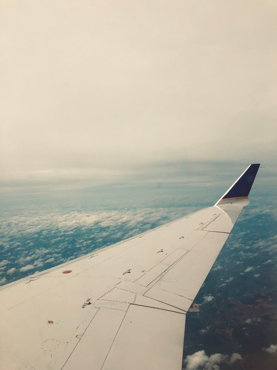 the view from a plane window