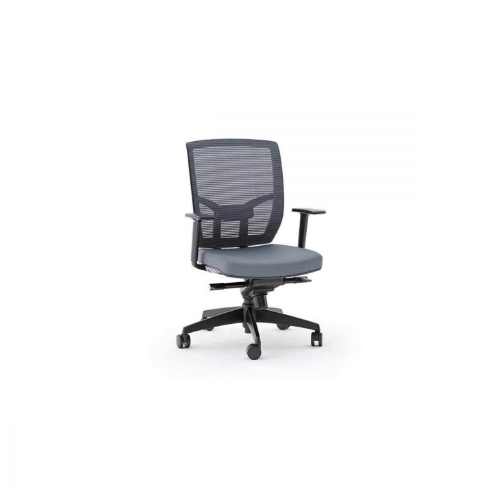 grey material office chair saucer canada tc 223 223dhf task fabric bdi furniture the fully adjustable by in