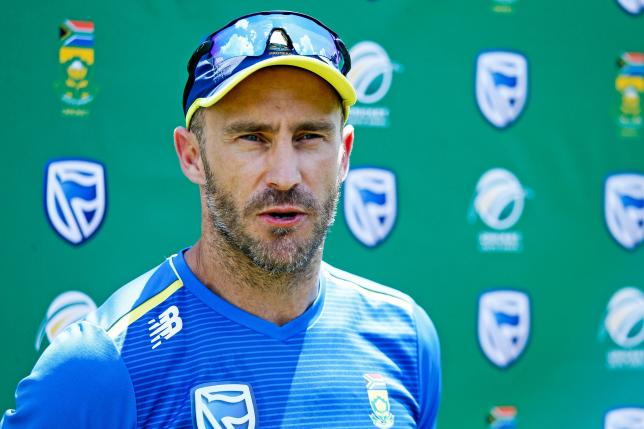 South Africa`s cricket team captain Faf Du Plessis speaks to the press following a team training session at the Supersport Park Cricket Stadium in Centurion, on 20 December 2019, ahead of a four match Test series against England starting on 26 December. Photo: AFP