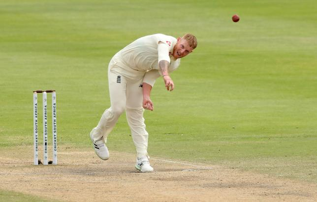 England`s Ben Stokes bowls in Second Test against South Africa at PPC Newlands, Cape Town, South Africa on 6 January 2020. Photo: Reuters
