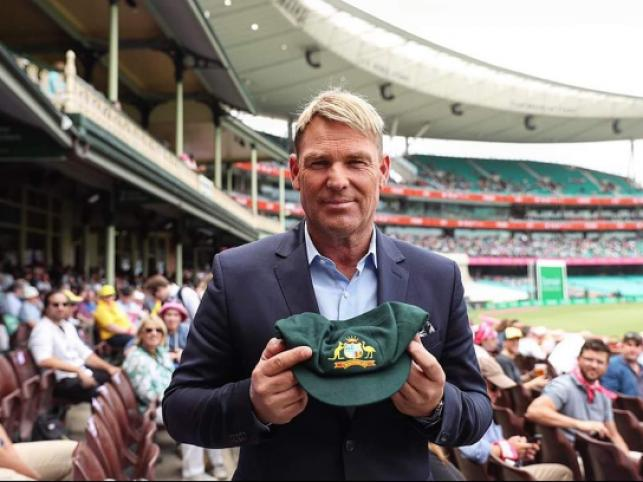 Australian spin legend Shane Warne with his baggy green cap. Photo: Collected