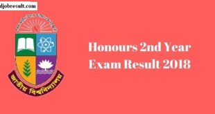 Honours 2nd Year Exam Result