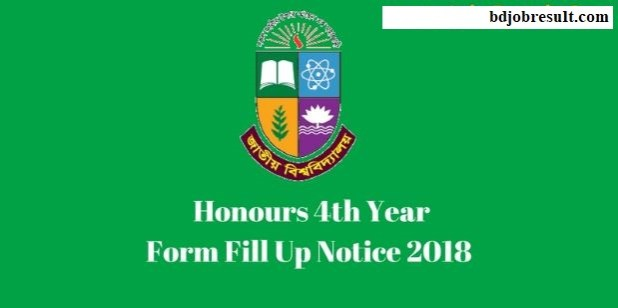 NU Honours 4th Year Form Fill Up Notice