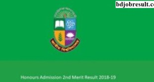 National University Honours Admission 2nd Merit Result
