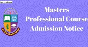 National University Masters Professional Course Admission