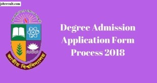 Degree Admission Application Form Process
