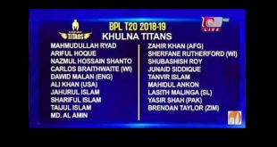 Khulna Titans Player List, Schedule, Ticket and Points Table BPL