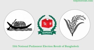 11th National Parliament Election Result of Bangladesh