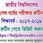 Master Final Year Exam Routine