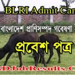 BLRI Admit Card 2021