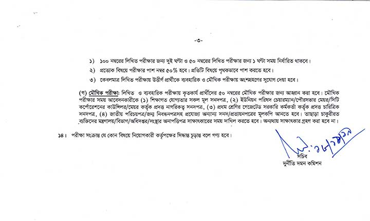 Anti-Corruption Commission Job Circular Nov19