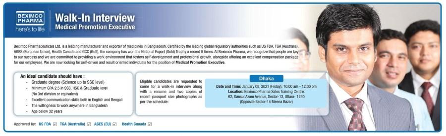 Beximco Pharma Job Circular January 2021