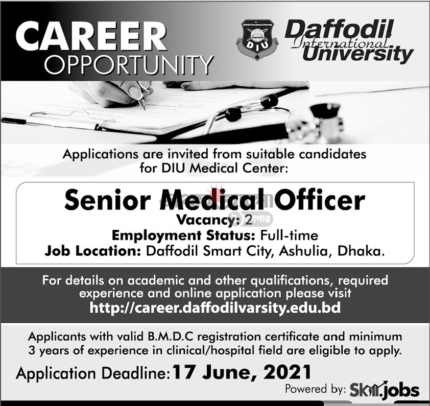 Daffodil International University Job Circular June 2021