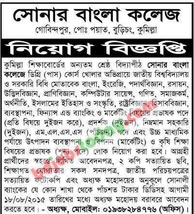 Sonar Bangla College,