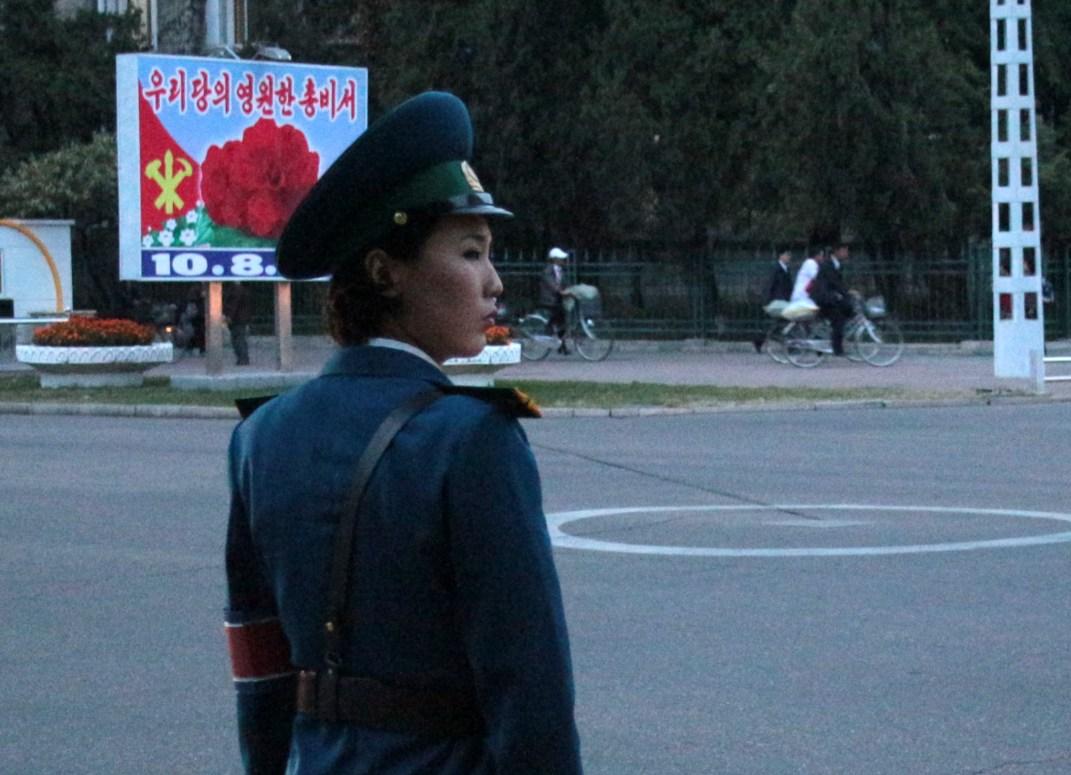 Traffic lady