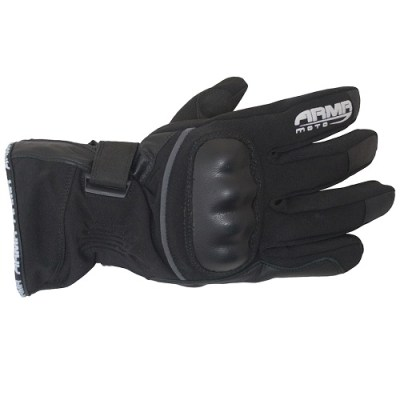 Armr WP535 Motorcycle Waterproof Gloves Black New