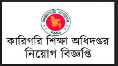 Directorate of Technical Education Job Circular 2018