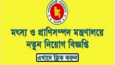 ministry of fisheries and livestock job circular 2019