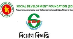 Social Development Foundation SDF Job Circular 2019
