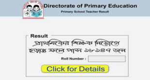 DPE Gov bd Primary Result 2019