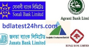 Combined 5 Bank Officer (Cash) Job Circular 2020