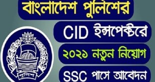 CID Job Circular Apply 2021