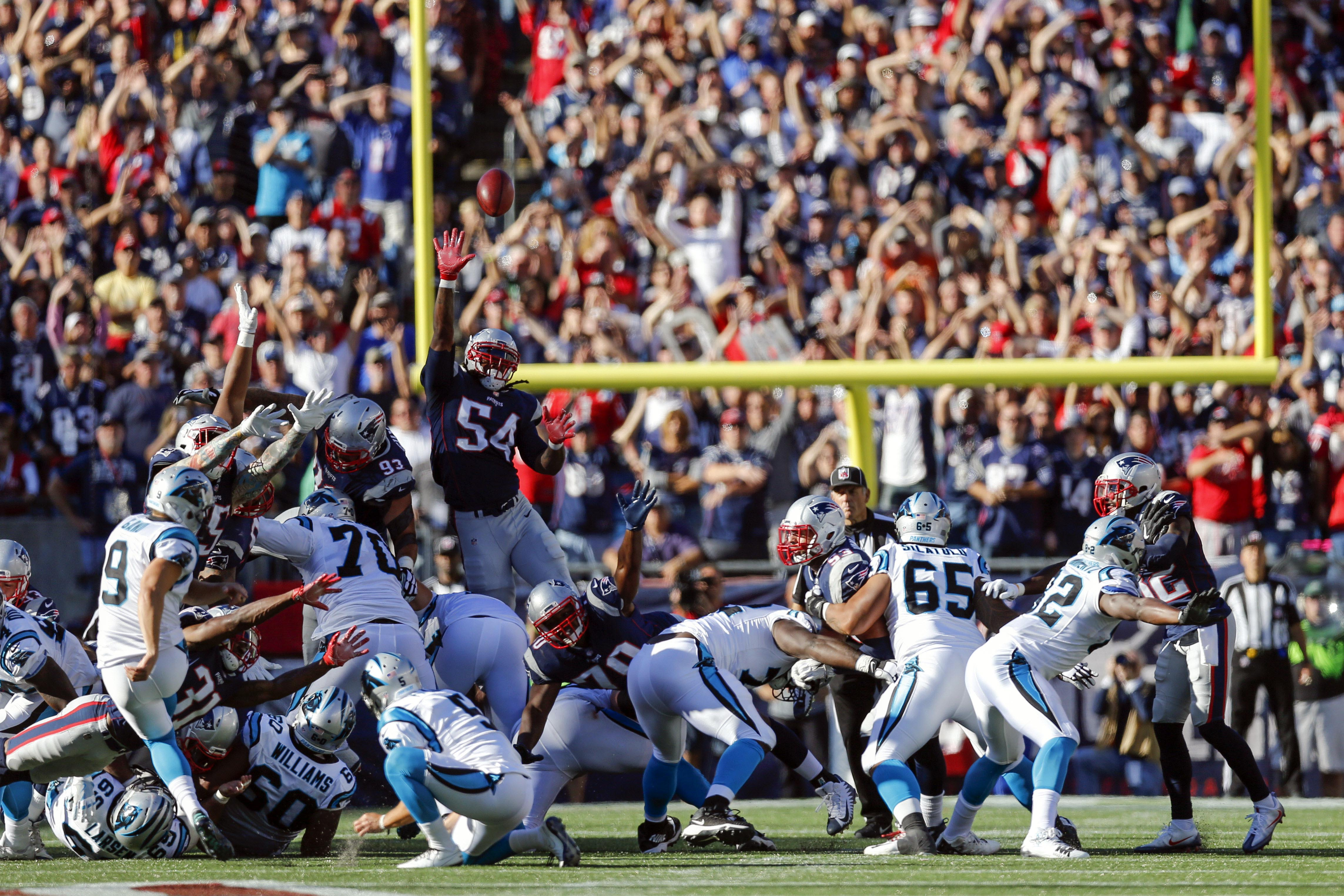 Gano field goal lifts Panthers over Patriots 33-30