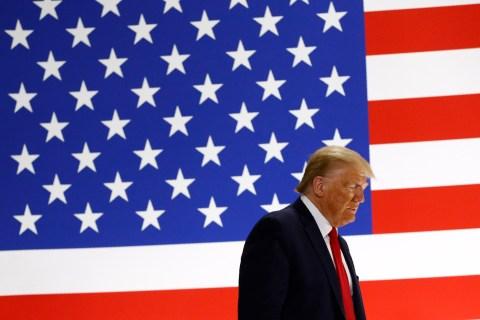 Trump again pushes trade and economy in Maine as coronavirus dominates race with Biden