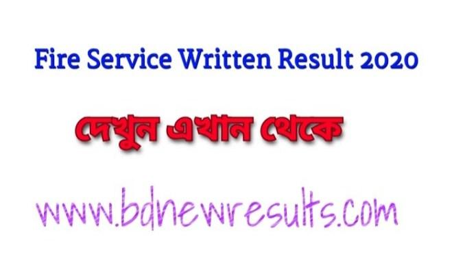 Fire service written exam result 2020