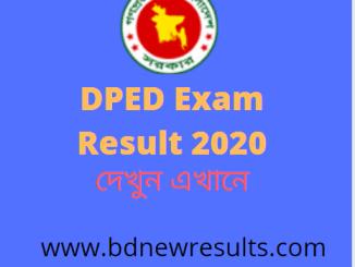 DPED Result 2020