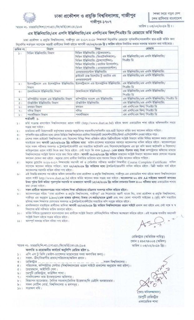 DUET-Postgraduate-Notice