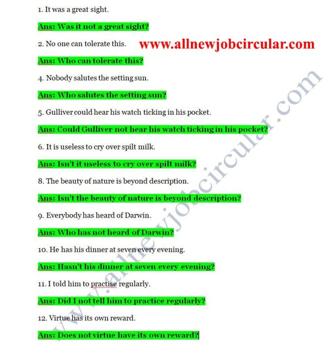 english-class-8-grammar-2nd-paper-answer