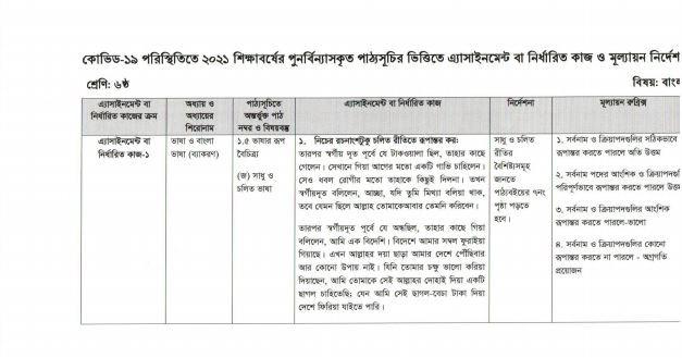class-6-assignment-bangla
