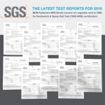 SGS Certification – The latest test reports for 2019.