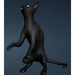 [Tier 1] Black Thin Cat