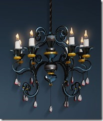 Ruby-decorated Chandelier