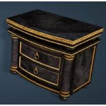 Keplan Marble Decorated Bedside Table