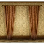 Fleece Tab Drapeless Curtain